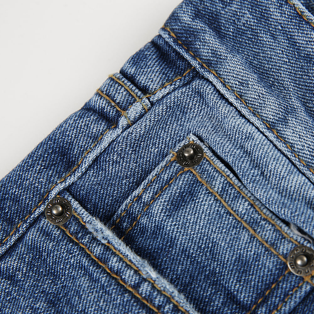 매스노운(MASSNOUN) STN WSHD DAMAGE LIGHT DENIM MFVJP002-BL