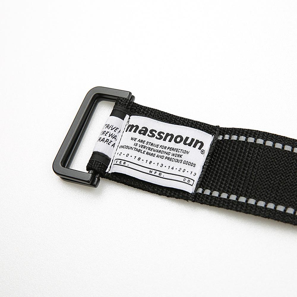 [매스노운] 리버시블 스카치 라인 롱벨트 MSEAA004-BK