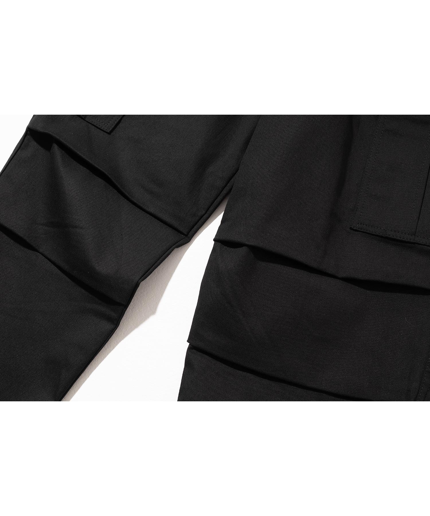 매스노운(MASSNOUN) D-RING EASY CARGO STRING PANTS MSNCP001-BK