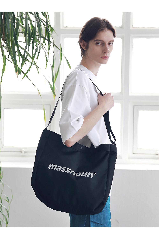 매스노운(MASSNOUN) SL 로고 3M 2웨이 숄더백 MSNAB002-BK