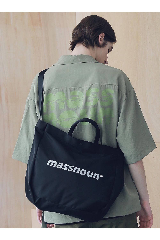 매스노운(MASSNOUN) SL 로고 3M 2웨이 숄더백 MSNAB002-KK