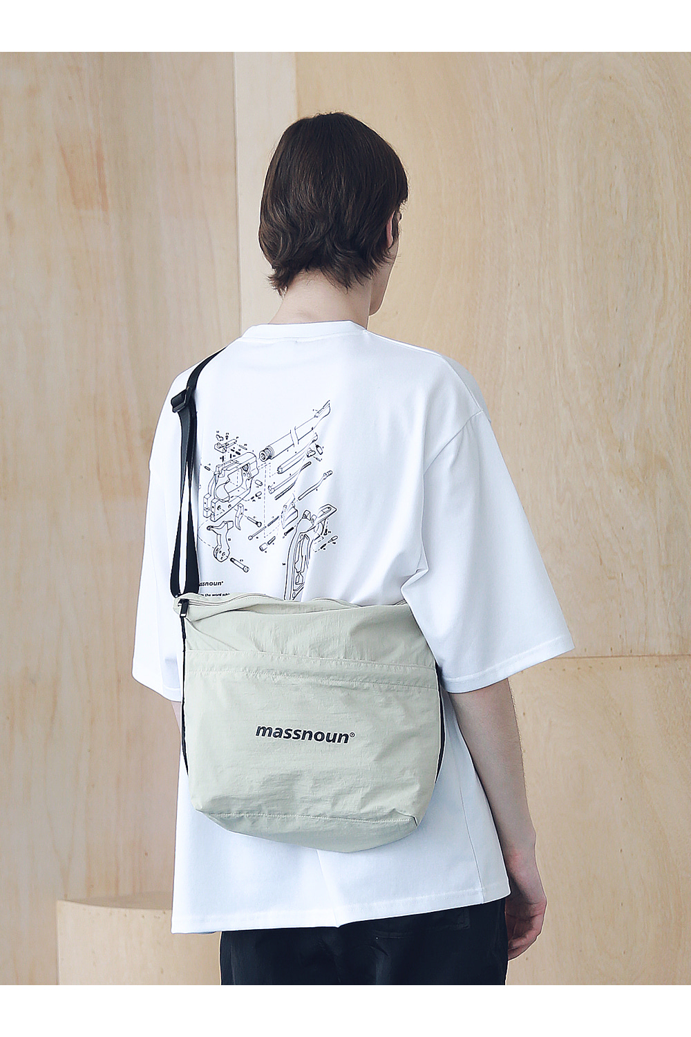 매스노운(MASSNOUN) SL LOGO 2WAY COMPACT BAG MSNAB003-BG