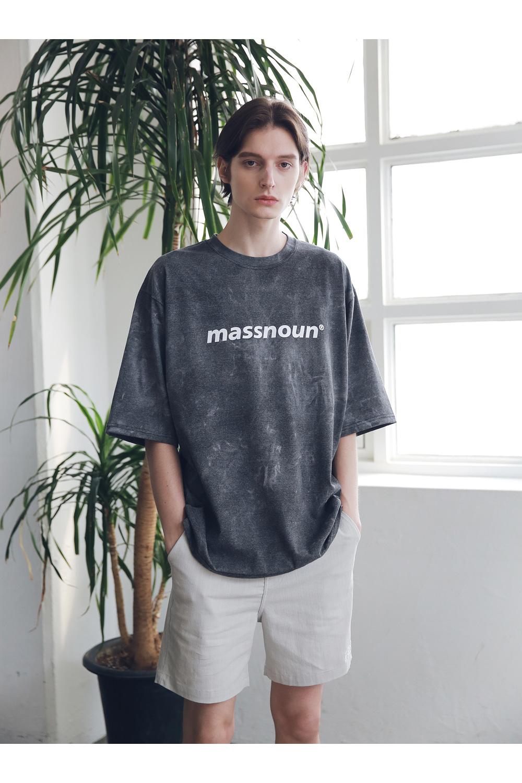 매스노운(MASSNOUN) SL 로고 베이직 숏 팬츠 반바지 MSNSP003-LG