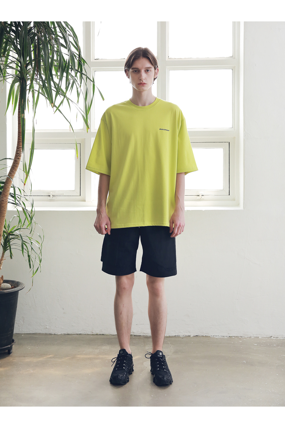 매스노운(MASSNOUN) SIDE TWO POCKET SHORT PANTS MSNSP004-BK