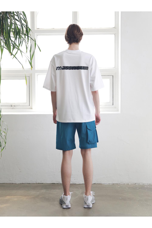 매스노운(MASSNOUN) 사이드 투 포켓 카고 숏 팬츠 반바지 MSNSP004-BL