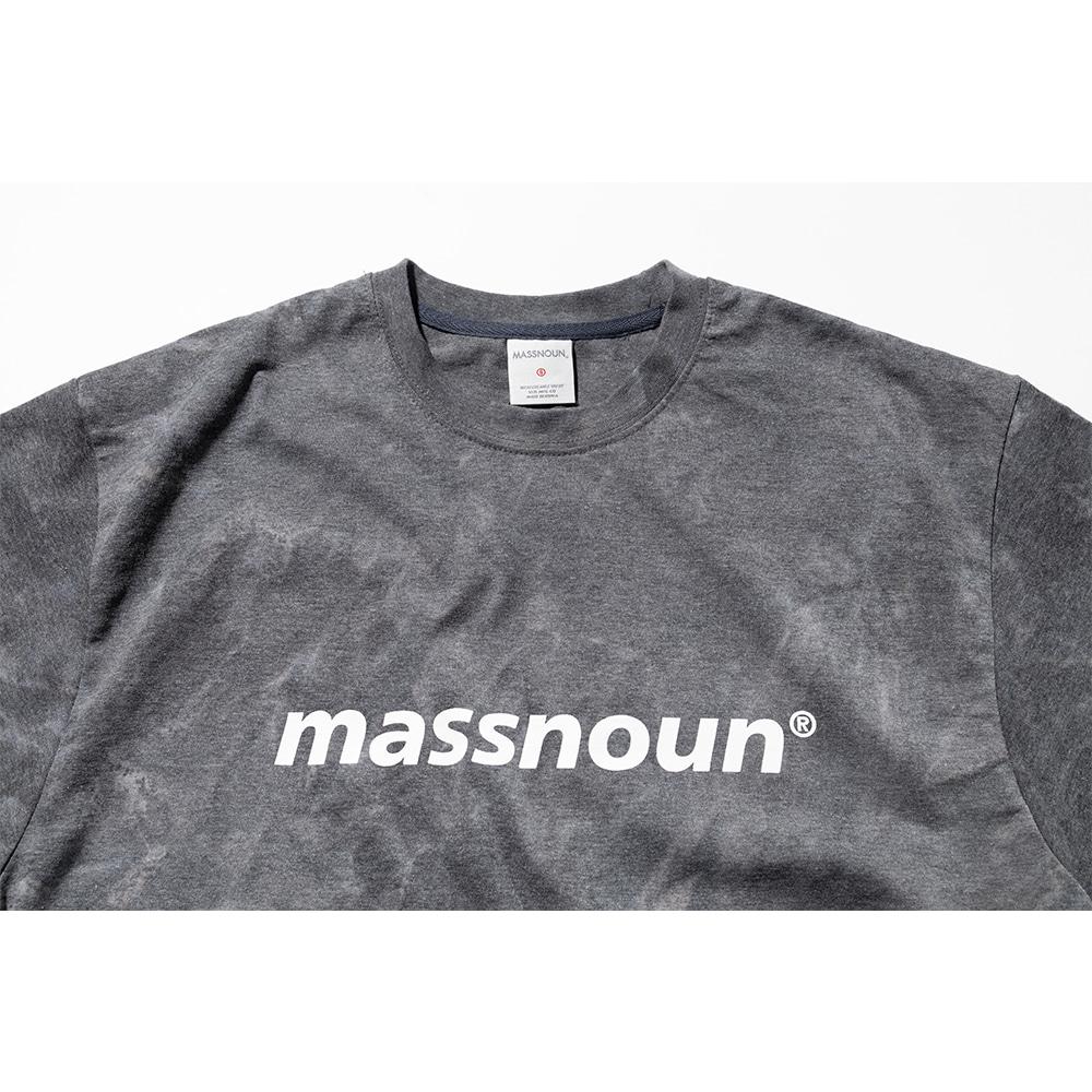 매스노운(MASSNOUN) SL 로고 타이다이 오버사이즈 반팔티 MSNTS009-BK