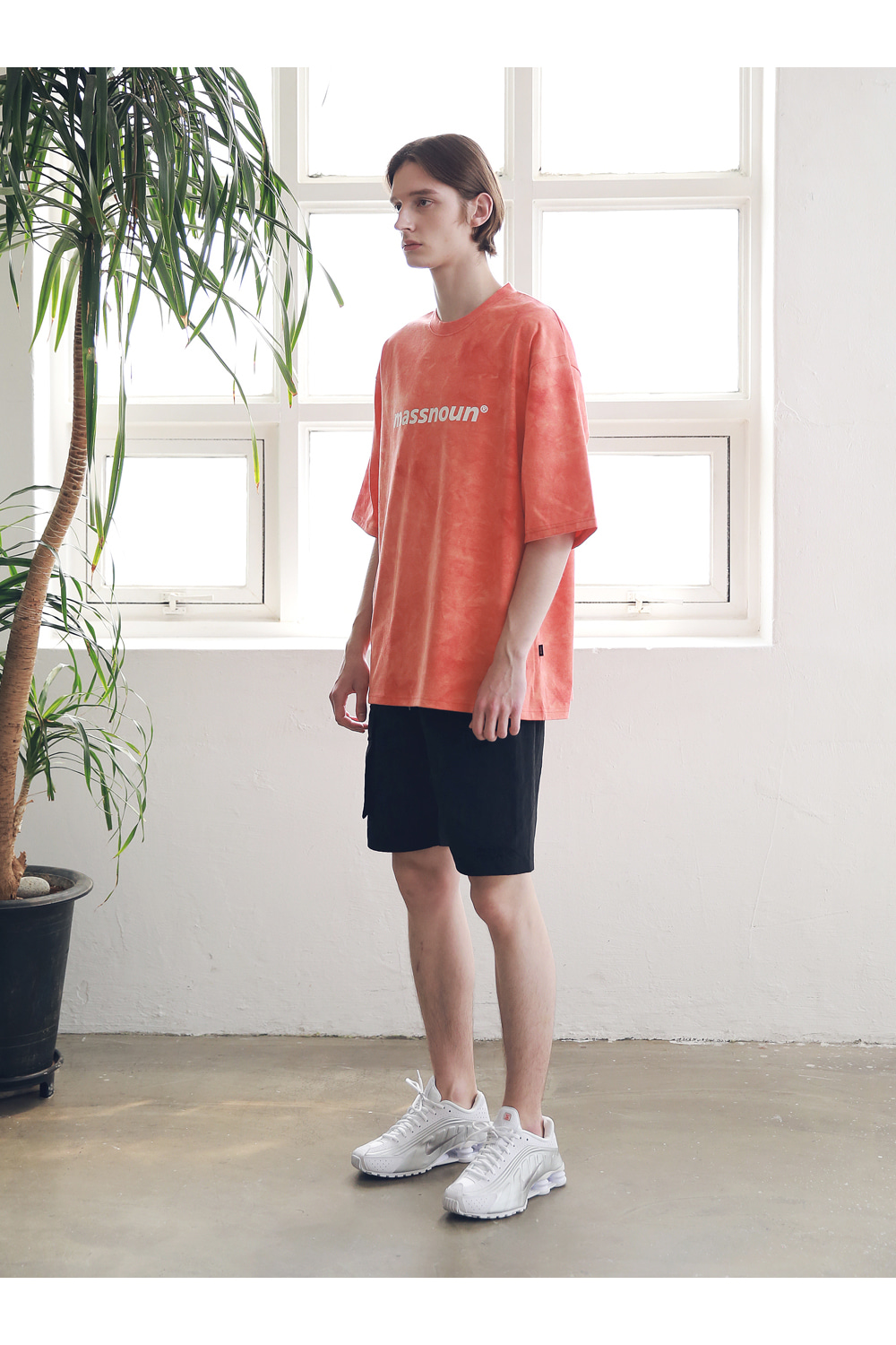 매스노운(MASSNOUN) SL LOGO TIE-DYE OVERSIZED T-SHIRTS MSNTS009-CR