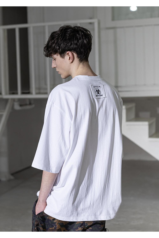 매스노운(MASSNOUN) 시그니쳐 오버사이즈 반팔 티셔츠 MSZTS004-WT