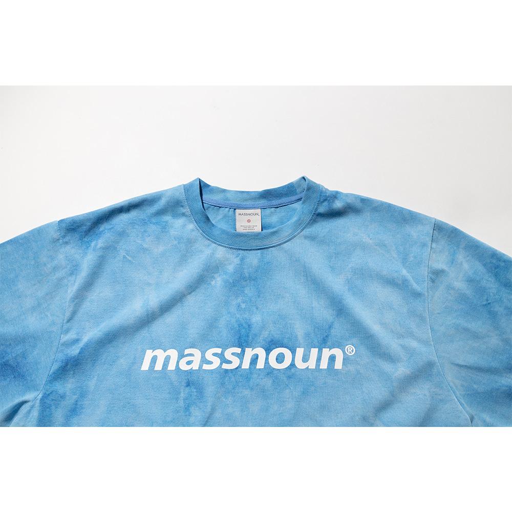 매스노운(MASSNOUN) SL 로고 타이다이 오버사이즈 반팔티 MSNTS009-BL