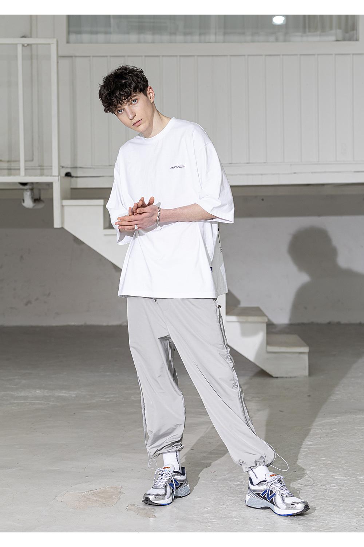 매스노운(MASSNOUN) 케쥬에이션 스마일 오버사이즈 반팔 티셔츠 MSZTS003-WT